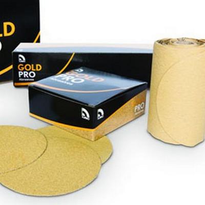 """U. S. Chemical & Plastics 80610 6"""" PSA P180 Gold Paper Roll"""