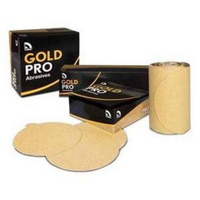 """U. S. Chemical & Plastics 82310 6"""" PSA P180 Gold Paper Flat"""