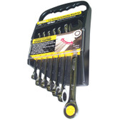 Titan Tools 17350 Combination Ratcheting Wrench Set 7 Piece SAE