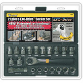 Titan Tools 17400 Socket Set Exo-Drive 21 Pc