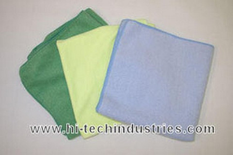 Hi-Tech Industries HT-20Y 16 X 16 Plush Yellow Microfiber Towel