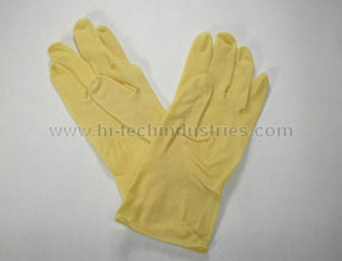 Hi-Tech Industries  393-10 Dozen Lt Duty Rubber Gloves Xl