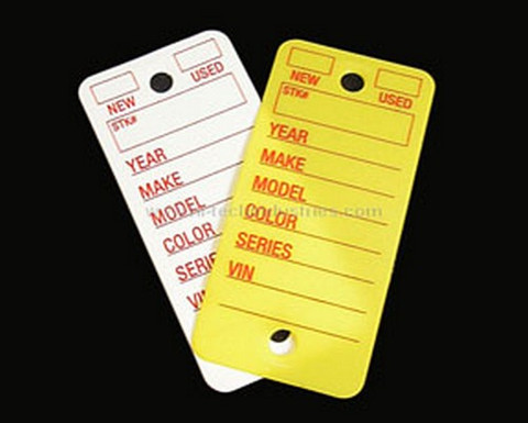 Hi-Tech Industries  KT-2Y Poly Key Tag - Yellow
