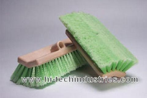 "Hi-Tech Industries  TB-10DF 10"" Green Bi-Level Wash Brush"