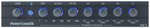 Power Acoustik PWM16 Equalizer Preamp