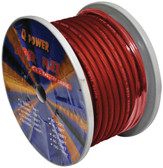 Qpower 4G100RD Power Wire 4Ga. 100' Red