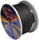 Qpower 4G100BK Power Wire 4Ga. 100' Black