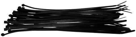 "Xscorpion CT8 Wire Ties 8"" Black 100 Pcs"