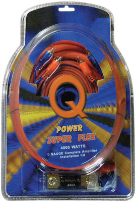Qpower 0GAMPKITSFLEX 0 Gauge Amp Kit Super Flex