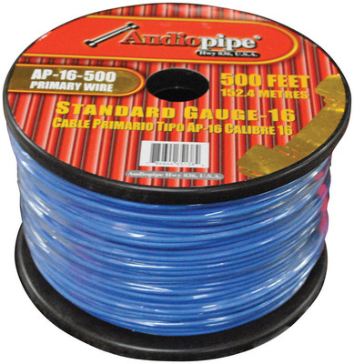 Nippon AP16500BL Audiopipe 16 Gauge 500Ft Primary Wire Blue