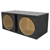 "Qpower QHD215V 2 Hole 15"" Vented Woofer Box With 1"" MDF Face"
