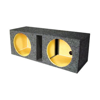 "Qpower QHD210V Empty Woofer Box Dual 10"" MDF Vented Bass Box"