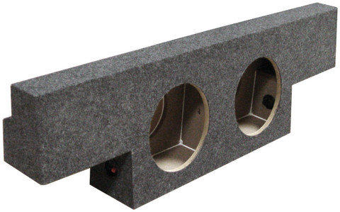 "Qpower BQGMC102004 Empty Woofer Enclosure Dual 10"" 'T' Shape"