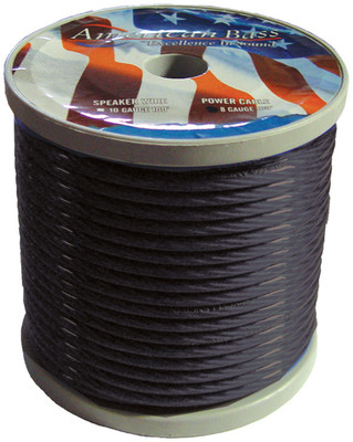 American Bass 8GB Wire 8 Ga Smoke Color 100Ft Roll *Ab655(R)*