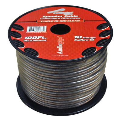 Nippon CABLE10100CL Audiopipe 10 Gauge Speaker Cable 100Ft Clear
