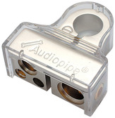 Nippon BTP705P Battery Terminal Audiopipe Positive; Platinum Finish