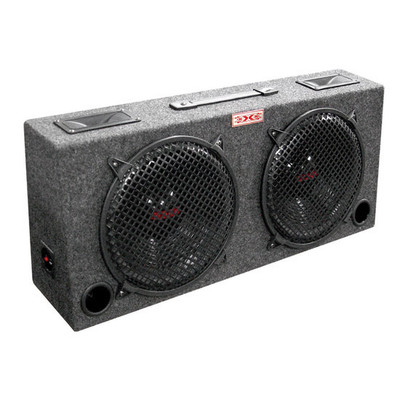 "XXX KIC120 Woofer Box Dual 12"" Xxx 2-Way Loaded Angle Style; 500Watts"