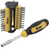 Titan Tools 32972 31pc Bit Driver Set
