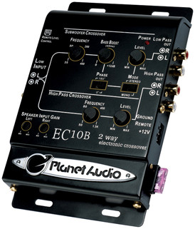 Planet Audio EC10B 2-Way Electronic Crossover With Remote Woofer Level Control