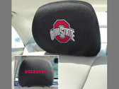 FANMATS 12589 Ohio State Embroidered Head Rest Cover