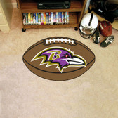 FANMATS 5674 Baltimore Ravens Football Shaped Mat