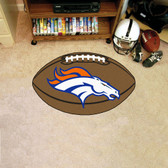 FANMATS 5719 Denver Broncos Football Shaped Mat