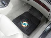 FANMATS 8770 Miami Dolphins Heavy Duty Vinyl Car Mats