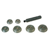 "Lisle 12600 Bearing Race and Seal Driver Set, with 6 Drivers, 1.565"" to 2.555"""