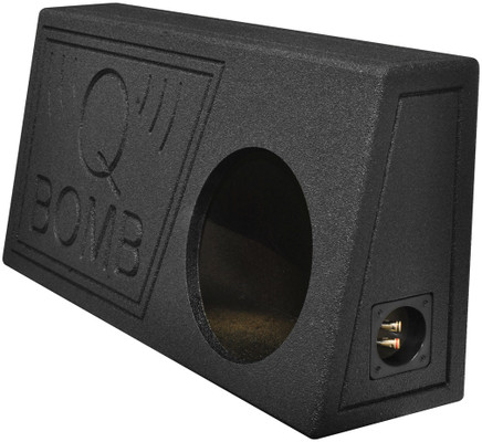 "Qpower QBTRUCK110V Single 10"" Truck Ported SPL Empty Woofer Box With Bed Liner Spray"