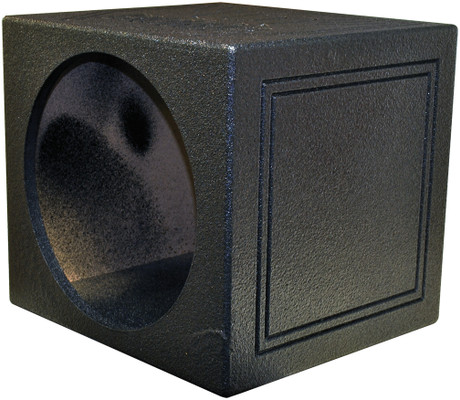 "Qpower QBOMB15SSINGLE Single 15"" Sealed Woofer Enclosure Withh Bed Liner Spray"