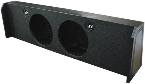 "Qpower QBFORD122009DF Dual 12"" Empty Woofer Box For 2009-14 Ford F150 Under Seat Downfire"