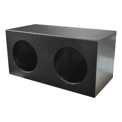 "Qpower QBOMB10S Dual 10"" Sealed Qbomb Empty Woofer Box"