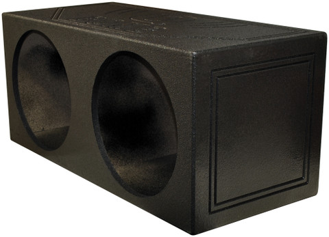 "Qpower QBOMB15S Dual 15"" Sealed Woofer Enclosure Withh Bed Liner Spray"