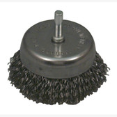 "Lisle 14020 Wire Cup Brush, 2-1/2"" Diameter, .014 Carbon Steel Wire"