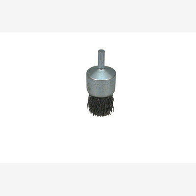 "Lisle 14060 Crimped Wire End Brush, 1"" Diameter, .020 Heat Tempered Wire"