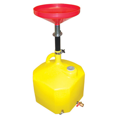"Lisle 17432 Plastic Oil Lift Drain 18 Gallon Capacity, 36-1/2"" to 77"" Range"
