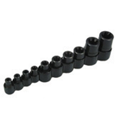 Lisle 26280 External Torx Bit Socket Set 10 Piece, E6 to E20