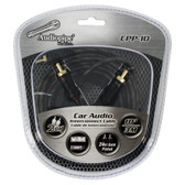 Audiopipe CPP10 24Kt Gold Plated Interconnect Cable 10Ft