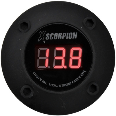 Xscorpion DVM3RB Voltmeter Digital 3 Digit LED Display Black
