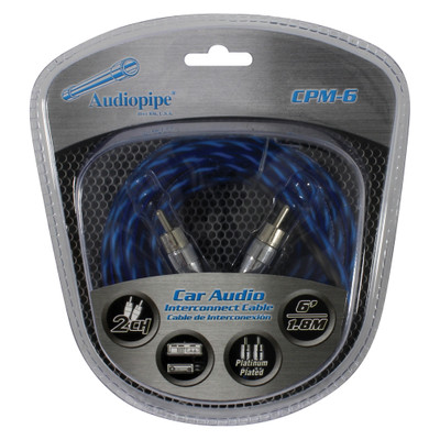 Audiopipe CPM6 Platinum Plated Interconnect Cable 6Ft