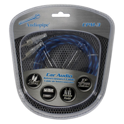 Audiopipe CPM3 Platinum Plated Interconnect Cable 3Ft