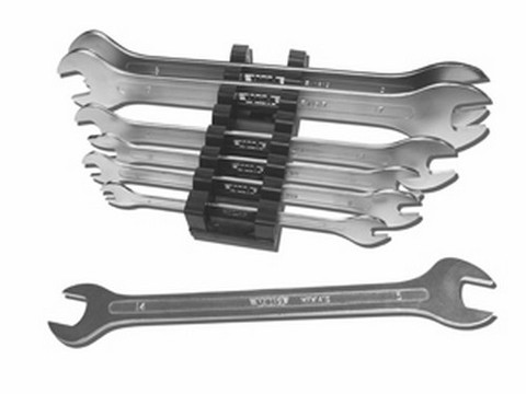 VIM Tools MFW100 Super Thin Metric Flat Wrench Set