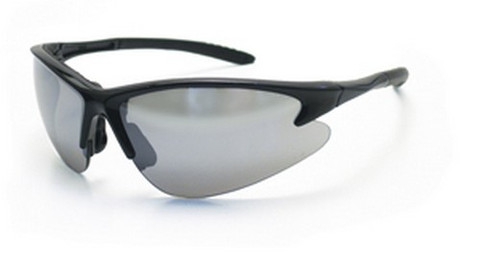 SAS Safety 540-0603 Db2 Safety Glasses - Black Frame W/Mirror Lens