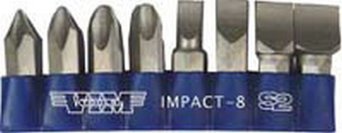 Vim Tools IMPACT-8 8 Piece Replacement Bit Set