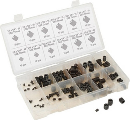 Titan Tools 45235 160 Piece Sae Hex Head Set Screw Assortment