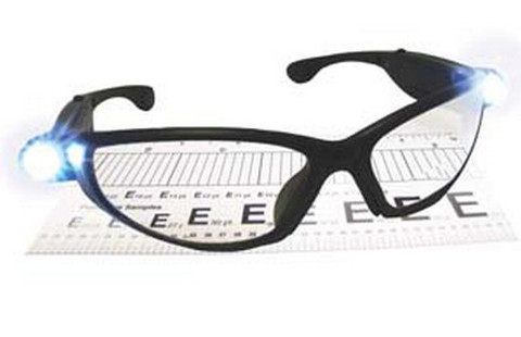 SAS Safety 5420-25 2.5 Strength LED Inspector Readers Safety Glasses