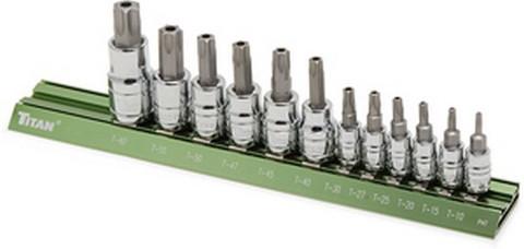 Titan Tools 16121 12 Piece Tamper-Resistant Torx Bit Set