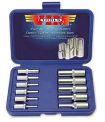 Vim Tools VDE418 11 Piece Deep External Torx® Socket Set
