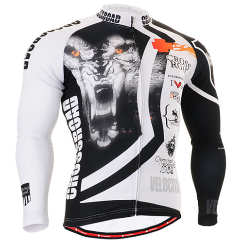 Fixgear cycling biking jersey wolf printed shirts for men