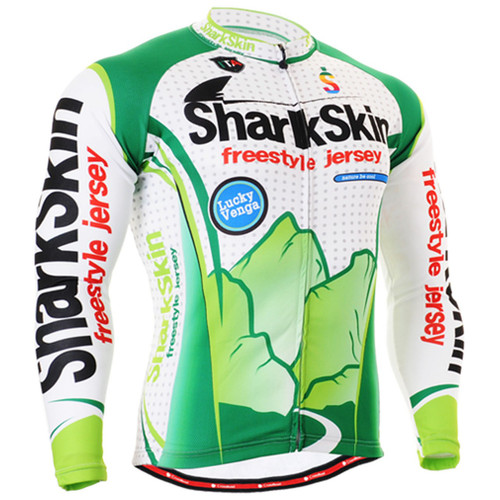 Fixgear print design biking Jersey white green shirts